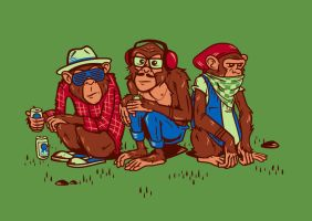Hipster Monkeys by bennyd302