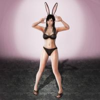 Dead or Alive 5 Kokoro Bunny DLC (Black and White) by ArmachamCorp