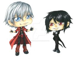 Sebastian and Dante chibis by DragonElfRanger