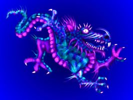 blue dragon by raganaga