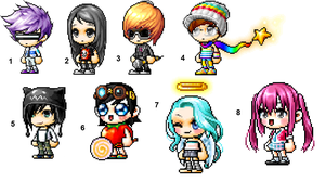 Maplestory Adoptables (CLOSED) by Riturrz