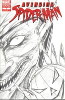 Green Goblin Sketch Cover by jamietyndall