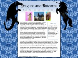 Dragons and Unicorns Layout by RSmales