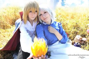 Howl + Sophie: Summer by palecardinal
