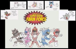 Super Sentai Farm Force by PlummyPress