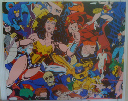 DC COMICS unofficial original acrylic painting by ChristopherNawara