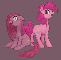 Pinkie and Pinkamena by kei05