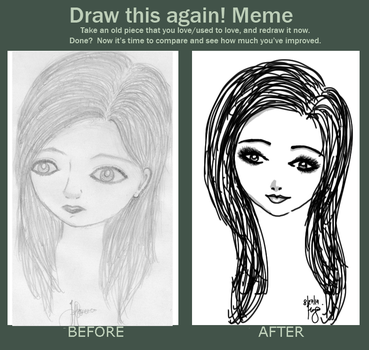 Before And After Meme! Again :) by iiRunningColors