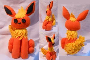 Flareon Plush ~For Sale~ by FuzzyAliens