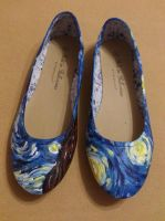 Vincent Van Gogh - Starry Night painted shoes. by arteclair