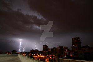 Lightning on the Plaza 2 by javamocha