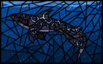 Stained glass shark by ryontail