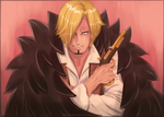 Wanted - Strong World Sanji (One Piece fanart) by MajorasMasks