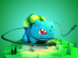 001 Bulbasaur by DarkBere