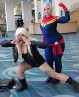 Black Canary and Ms Marvel at Long Beach Comic Con by trivto