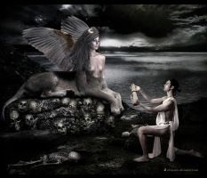 OEDIPUS AND THE SPHINX.. by chryssalis
