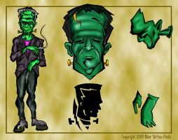 Frankenstein Tattoo Flash 4 by BeeJayDeL