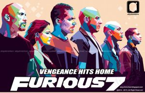 furious 7 in wpap by obiy shinichiArt by obiyshinichiart