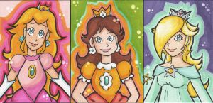 Peach - Daisy - Rosalina by starlinehodge