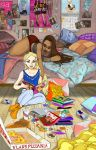 Rose and Lissa Sleepover by may12324