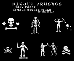 Jolly Roger Flag PS Brushes II by Kradchan