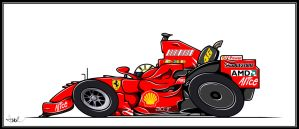 Number 46 Ferrari by AndreiB