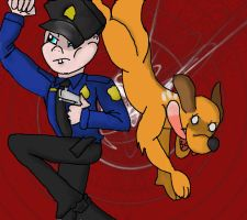 Officer Babyface + Dog by QweXTheXEccentric