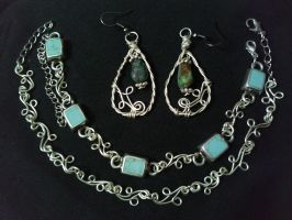 turquoise and silver set II by PK-Photo