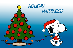 Snoopy Holiday Happiness by Richard67915