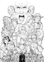 Wheel of Time - Lineart by Nether83