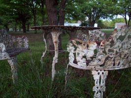 Rusted Chairs by canabalisticmonkey