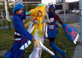 Jirachi and Kyogre Gijinka Cosplays by Cassandrina