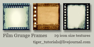 Film Grunge Frames by Martini-Tiger-Bianco