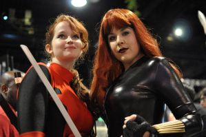 Black Widow and Deadpool by miss-kitty-j