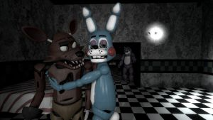Foxy and Toy Bonnie by BetrayingtheMartyr