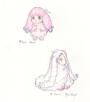 +Fakemon+ Agnou and Freene - Pencil by Meruruu