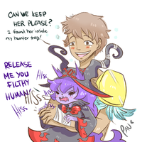 Quick doodle - Theshan and Wicked Lulu by Kasugaxoxo