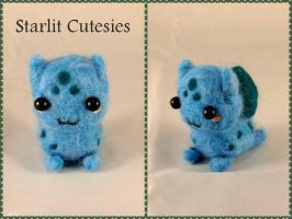 Needle Felted Chibi Bulbasaur! by StarlitCutesies