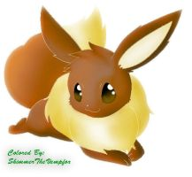 Eevee (colored) by ShimmerTheVampfox