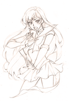 Sailor Mars [sketch] by Emily-Fay
