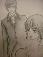 Mr Darcy and Elizabeth Bennet by bjonsie13