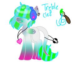 Treble Clef teh pony by yaoifangal13