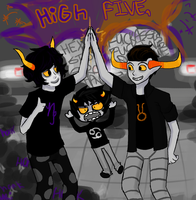 HiGh fIVE, by Uri-Loves-Cookies