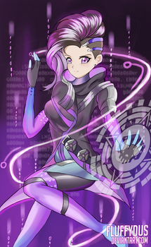 Sombra (Overwatch) by FluffyDus
