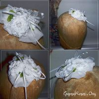 Bridal Fascinator, White by che4u