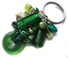 Green ring keychain by fairy-cakes