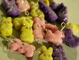 Mini Peep Charms and Beads by KT-Silver
