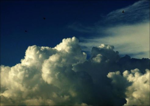 in the clouds... by Kanashii-Hito