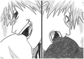 Ichigo and Hollow BAN by Twojstarypl