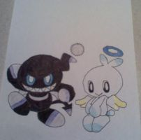 Dark Chao, Angel Chao by sonicfan40